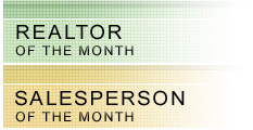 REALTOR® & Salesperson of the Month